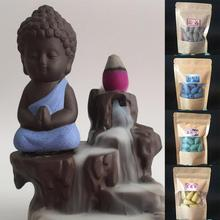 New Arrival 20Pcs Natural Reflux Tower Incense Tea Smoke Backflow Aromatherapy Cones(China)