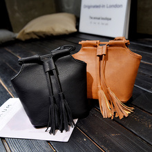 women fashion high quality pu leather shell bags lady cute tassle shoulder bags female cool casual stylish messenger bags