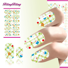 2PCS Nail Art Decorations Water Transfer Nail Sticker Polka Dot Imperial Crown Design Nail Patch Manicure Decals