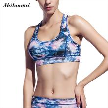 2017 New Soft Sport Bra Quick Dry Breathable Anti-static Print Underwear For Women Running Fitness Yoga Gym Workout Sports Bras