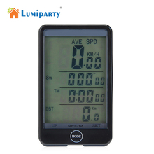 LumiPart Wireless/Wired Waterproof Bike Compute Bicycle LCD Backlight Bike Odometer Speedomet Cycling Computer Bicicleta