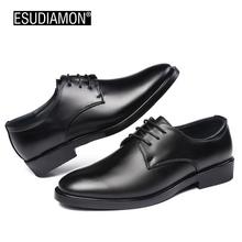 New Arrival Top Quality Men Business Casual Leather Shoes Men Oxfords Classic Black Dress Wedding Shoes Luxury Brand 2017(China)