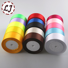 Brand high quality 1-1/2''(40mm) solid Satin Ribbon 25yard/roll Multicolor gifts wedding decoration ribbon tape crafts accessory(China)