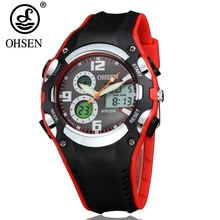 NEW Arrival OHSEN Fashion Design boys Children Kids Watches Digital LED Analog Watch Rubber Band Outside Sport Swim Wristwatches