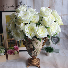 Beautiful 7 Heads/bouquet palace emperor Rose silk flower peony bouquet wedding decoration artificial flower