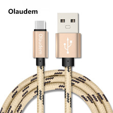 Olaudem USB Cable USB C 3.1 Type C Cable Type-C USB-C Fast Charging Data Sync Charger Mobile Phone Cable Huawei Xiaomi CB021