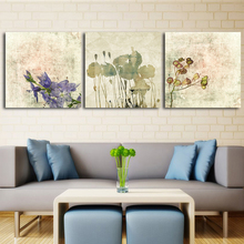 Floral Art Print Poster Nordic Home Decoration Canvas Painting Transparent Elegant Flowers Painting Wall Decor Pictures