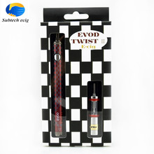 Sub Two 20 pcs/lot Electronic cigarette Evod twist III starter kit Dual Coil airflow control with 2ml atomizer 1200mah