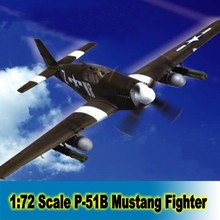 "Assembly Model Building Kit  1:72 Scale UK P-51B ""Mustang"" fighter Airforce Airplane Model Assembly Kits  80242"