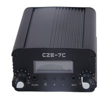 CZE-7C CZH-7C 7W 76-108mhz FM stereo PLL broadcast transmitter hot sale wholesale(China)