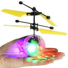 New Brand Mini Flying RC Drone Helicopter Infrared Induction LED Remote Ball Mini Aircraft for Kids Teenagers Children New(China)