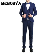 2016 Men's Formal Suits Set New Fashion Style Groom Business Suits Men Wedding Dress Suit Sets(Jacket+Vest+Pants)