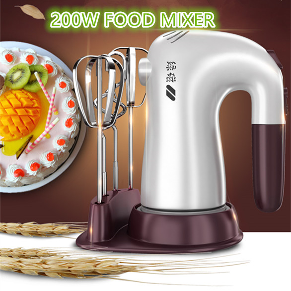 200W Cooking Food Mixer Electric Egg Beater Handheld Electric Food Mixer Electric Blender Kitchen Hand blender mixer electric<br>