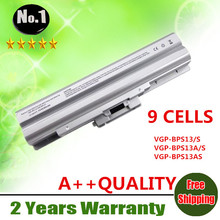 Wholesale New 9cells laptop battery FOR SONY VAIO VGN-AW  VGN-CS VGN-FW VGN-SR  SERIES VGP-BPS13B/S VGP-BPS13S free shipping