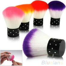 New Colorful Nail tools Brush For Acrylic & UV Gel Nail Art Dust Cleaner Random Color(China)
