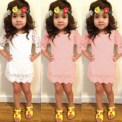 New Baby Girls Hollow Out Flower Dress casual summer kids lace party dresses girls clothes<br><br>Aliexpress