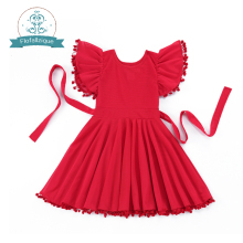 Girls Dress costume 2016 Kids Clothes Birthday party Princess dresses  Christmas dress For Girls Red Tassels dress