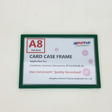 A8 Back Sticked by Magnetic Plastic POP Paper Sign Card Label Display Show Case Frame on Retail Store Shelf Promotion 1000pcs(China)