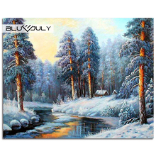 Full Diamond Painting The forest in winter Picture Of Rhinestones Cross-Stitch Kits Sale Sequins Embroidery Pattern hobby crafts