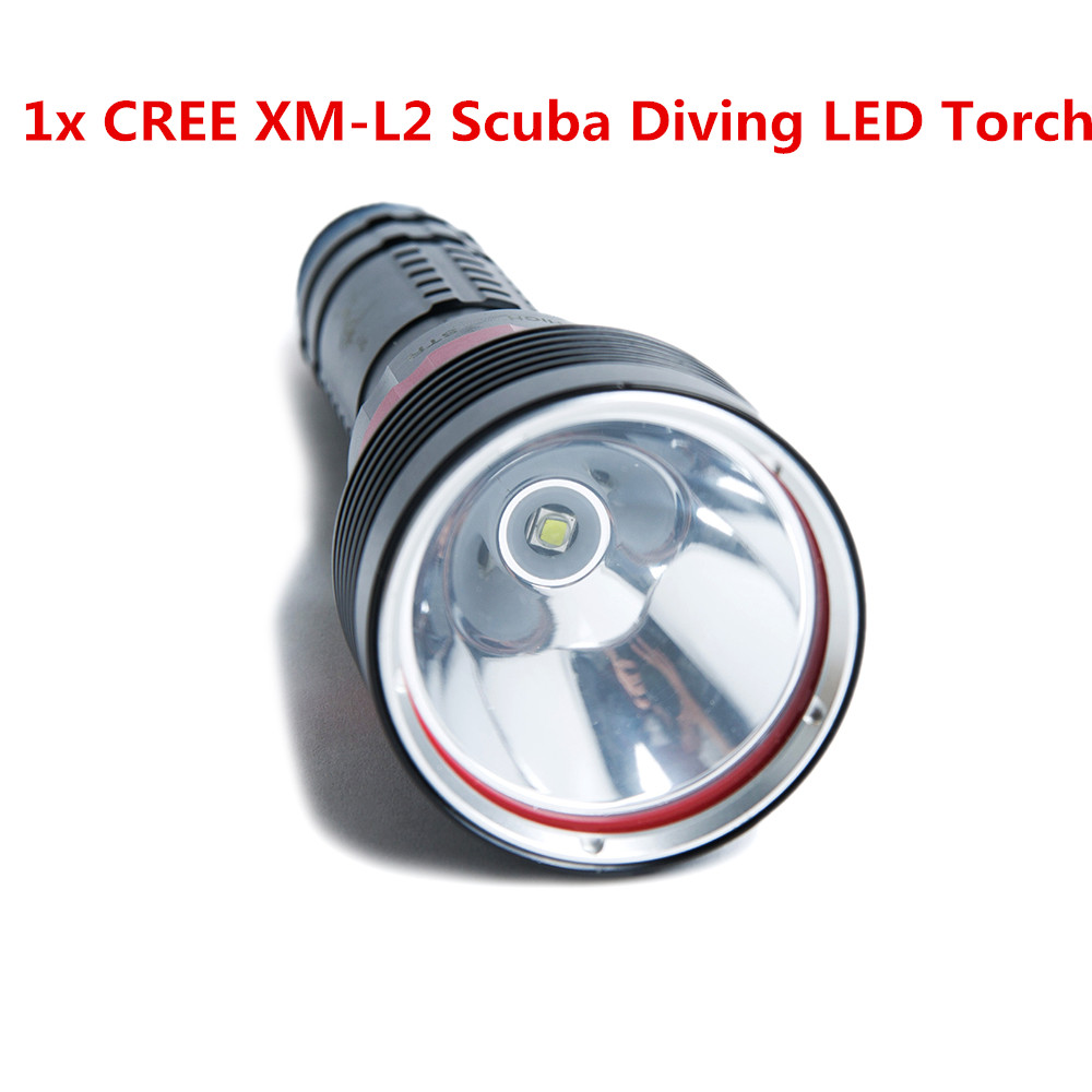 New Underwater Diving Flashlight Torch XM-L2 LED Light Lamp Waterproof 2000Lm Light 18650 Battery For Driving<br>