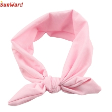 SunWard Newly Design Girls Rabbit Bow Ear Hairband Headband Turban Knot Head Wraps For Little Kids July13 Drop Shipping