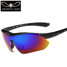QUEENS KISS 2017 Top Fashion Polarized Sunglasses Men Cool Style Road cross country competition High Quality Sun Glasses Anti-UV