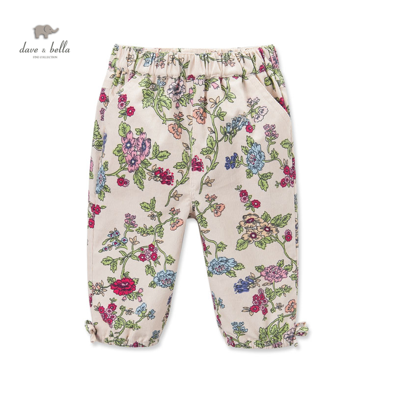 DB3702  davebella autumn baby girls flower printed pencil pants babi trousers girls floral pants kids trousers<br><br>Aliexpress