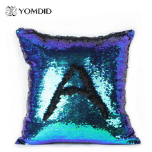 Glitter Cushion Cover 10 Kinds Double Color Sequins Throw Pillow Case Cafe Home Decor Levert Dropship