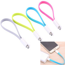 Short Flat Noodle Magnet USB Sync Data Charger Cable Cord wire of 22CM  For Samsung HTC LG with Funny Design