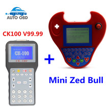 2017 latest Generation CK-100 V99.99 Universal with Mini Zed Bull Auto Key Programmer CK100 With Multi-language transponder