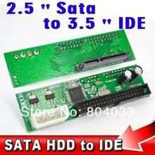 "2015 22Pin Sata 2.5"" 3.5"" to IDE 3.5"" 44pin HDD Hard Disk Driver Adapter Converter Adaptor ATA 100 133 HDD DVD CD 4P Molex Power"