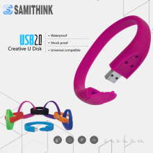 Silicone Bracelet USB Flash Drive High Speed Memory Stick Custom Gift Pen Drive 64GB 32GB 16GB 8GB 4GB 2GB