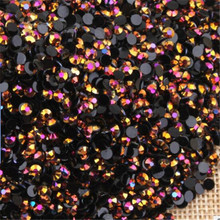 2MM 3MM 4MM 5MM 6MM Bling Rose Gold Color Non HotFix Resin Rhinestones Flatback Resin Stones no Glue for Arts Decoration(China)