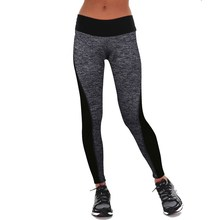 Buy 2017 Leggings Black/Gray Women's Fitness Leggings Workout Pants Panelled Ladies High Waist Leggins Quick-drying Wear Trousers for $6.30 in AliExpress store
