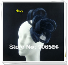 Free shipping 17 color avaliable sinamay fascinator hair accessories /cocktail hats/party hats 12pcs/lot  MSF248