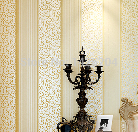 European stereo luxury 3D embossed striped wallpaper roll for bedroom,wall paper Of  home decor,papel de parede listrado<br><br>Aliexpress