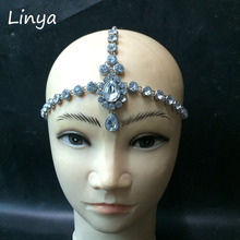 HC-103 Head Chain Diamante head band hair jewelry wedding bridal head Jewelry birthday boho(China)