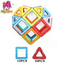 MylitDear Big Size Magnetic Building Blocks Toys 28Pcs High Quality Educational Magnetic Blocks Heart Magnetic Bricks Toys