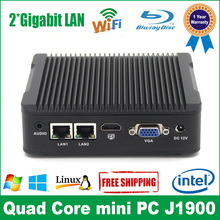 Mini PC j1900 Fanless PC Quad Core Dual LAN 2*RS232 COM RJ-45 HDMI VGA Celeron J1900 Small PC Case Mini PC ordinateur SSD(China)