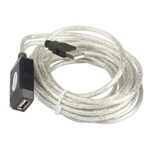 16FT 5M High-density Shielding Active USB 2.0 Extension Cable Repeater For Laptop PC Computer
