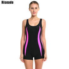 Riseado 2017 Brand Swimwear Women One Piece Swimsuit Sports Swimming Suits Shorts Backless Beachwear Bathing Suits(China)