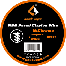 original GeekVape N80 Fused clapton wire(26ga*3+36ga) for electronic cigarette tank vape accesorry(China)
