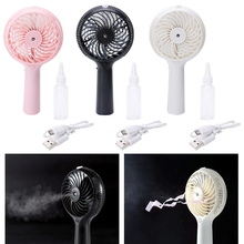 Portable Handheld Fan Humidifier USB Charging Pocket Compact Mist Spray Travel