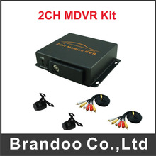 2 channel car dvr+ 2pcs mini cameras,used for car,bus,taxi,mobile home car,for free shipping