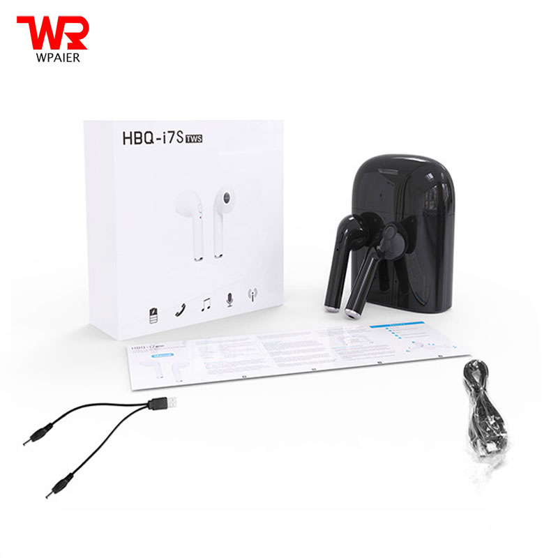 WPAIER HBQ I7S TWS Wireless Bluetooth Earphones portable mini headphones with charge box Universal headsets for ios/Android<br>