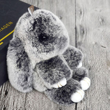 2017 Hot Selling Cute Play Rabbit Fur Hanging Pendant Rabbit Bunny Key-chain Fashion fur key-chain Rabbit Toy Doll