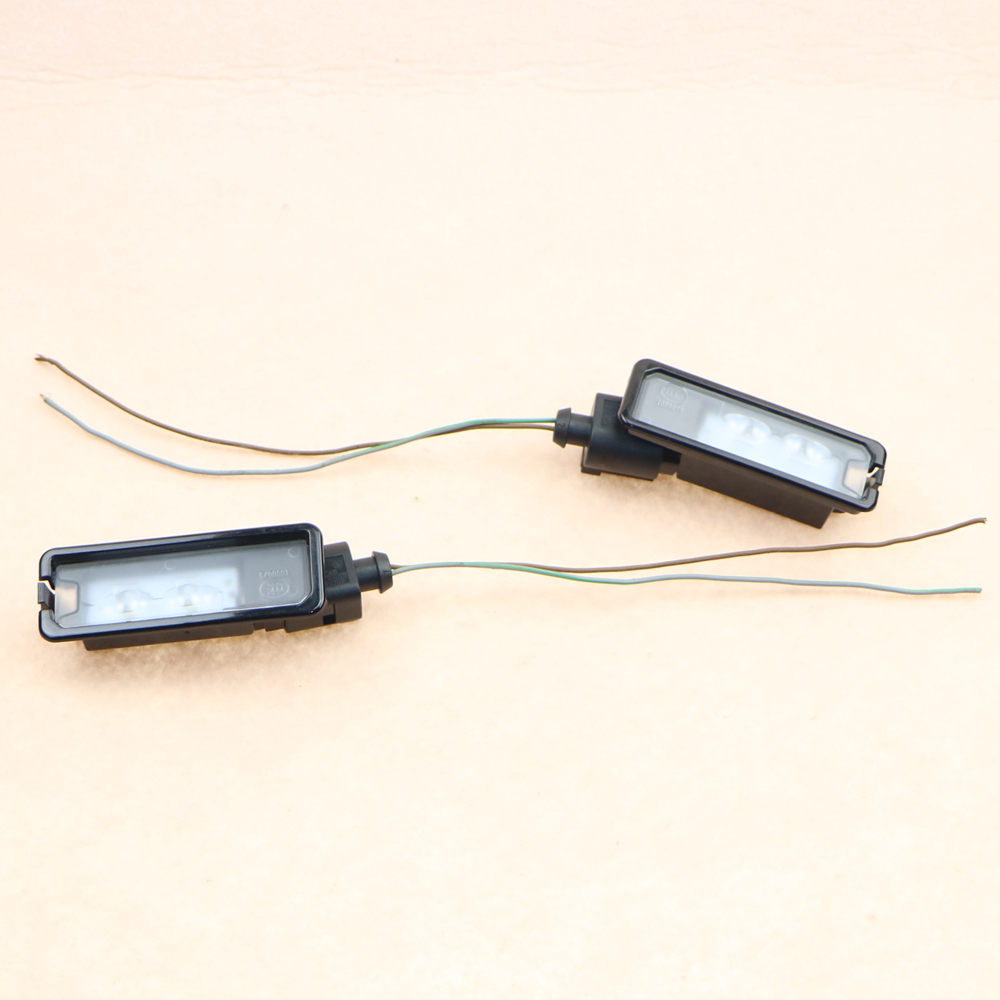 VW Original LED License Plate Light+Socket Harness For VW Passat B7 Golf MK7 Scirocco CC Polo 6R 35D 943 021 A 35D943021A<br><br>Aliexpress