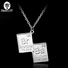 Wholesale Breaking Bad Br Ba Chemical Symbol Necklaces Friendship Pendant Necklaces Maxi Statement Necklace Party Accessories(China)