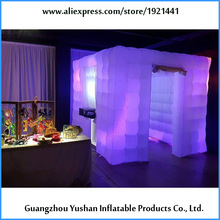 2016 new design high quality inflatable photo booth with led light inside for advertising(China)