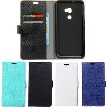 Uftemr Cases For HTC One X10 Wallet Crocodile Skin PU Leather Back Cover Silicone Phone Case For HTC E66 With Card Slot